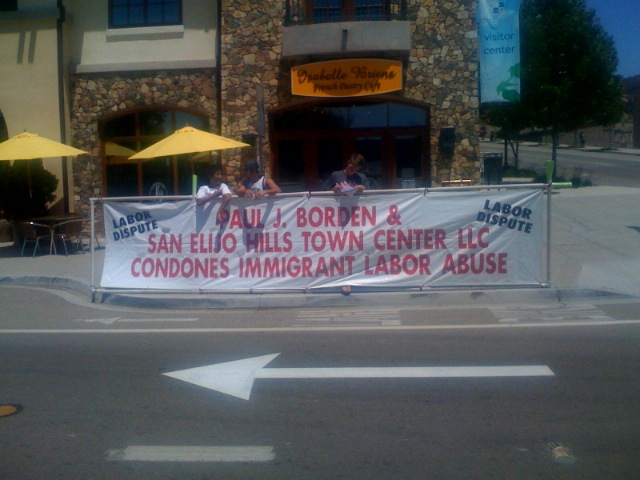 Taken with camera phone in front of San Elijo Hills Cafe