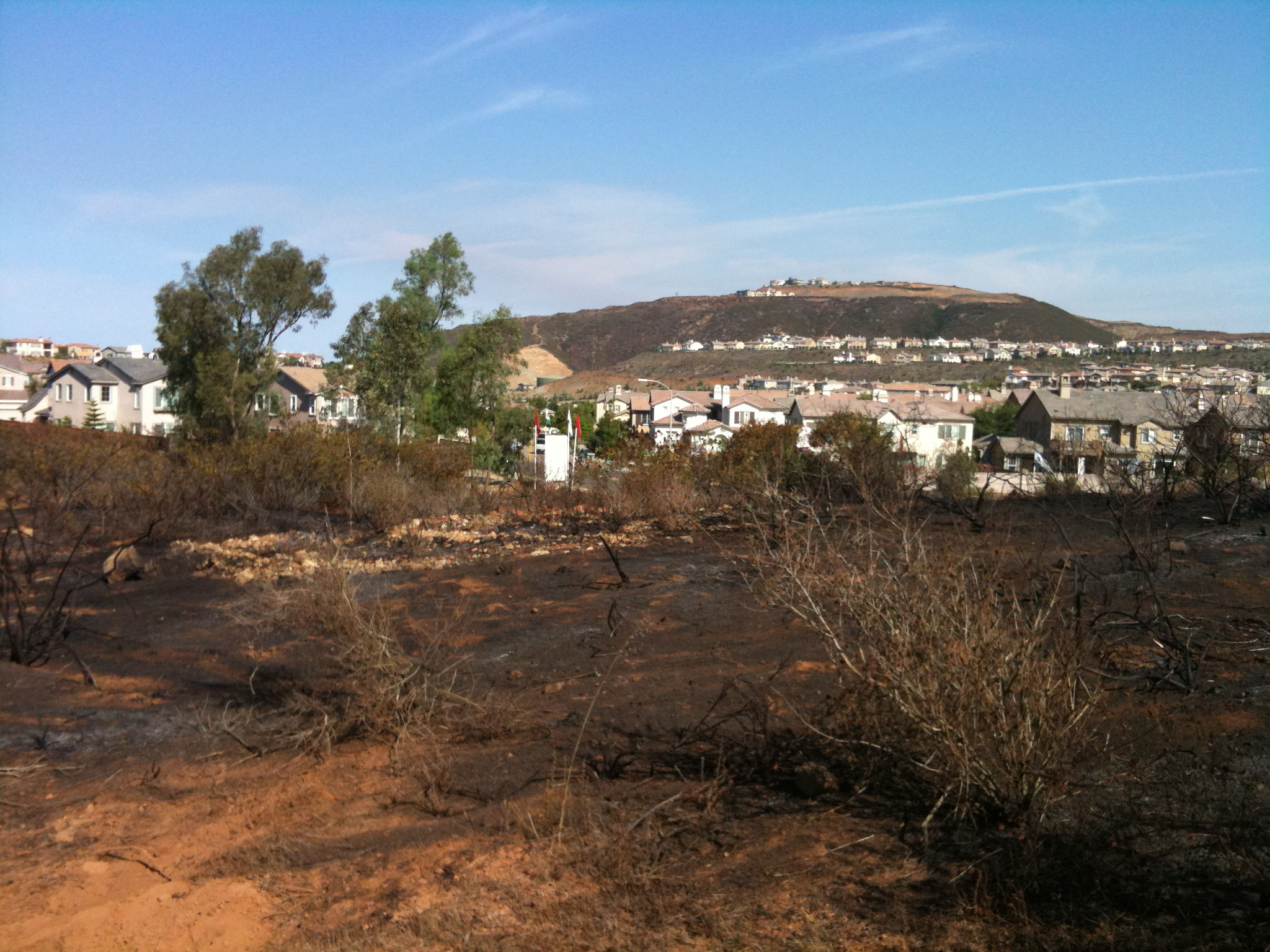 Looking North at Fire Location