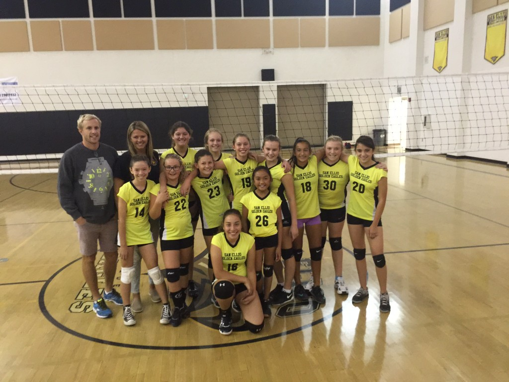 San Elijo Middle School Volleyball SMUSD League JV Champions